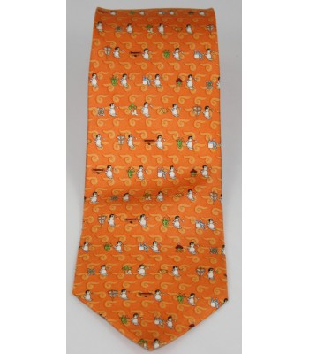 Pilgrimage Pineda Covalin Silk Tie in Orange