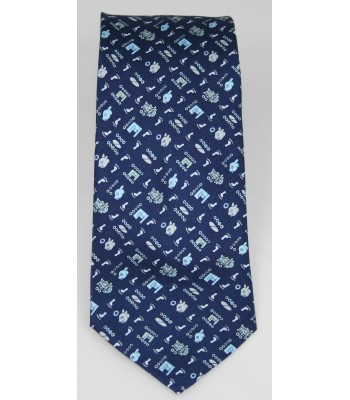 Pilgrimage Pineda Covalin Silk Tie in Navy Blue