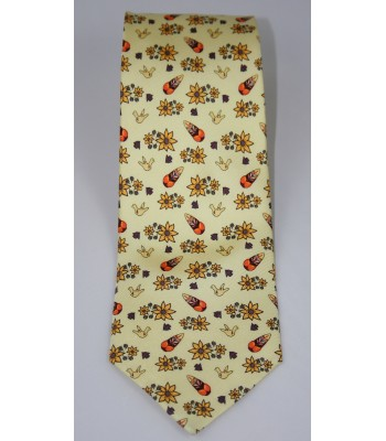 Metepec Pineda Covalin Silk Tie in Yellow