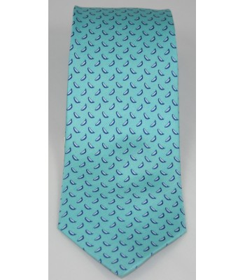 Chiles Pineda Covalin Silk Tie in Turquoise