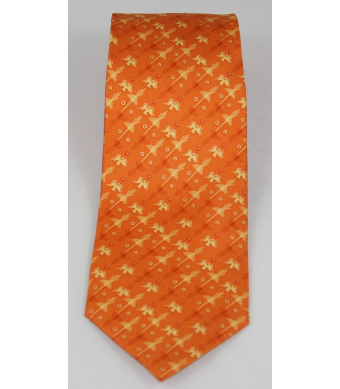 Nazca Pineda Covalin Silk Tie in Orange
