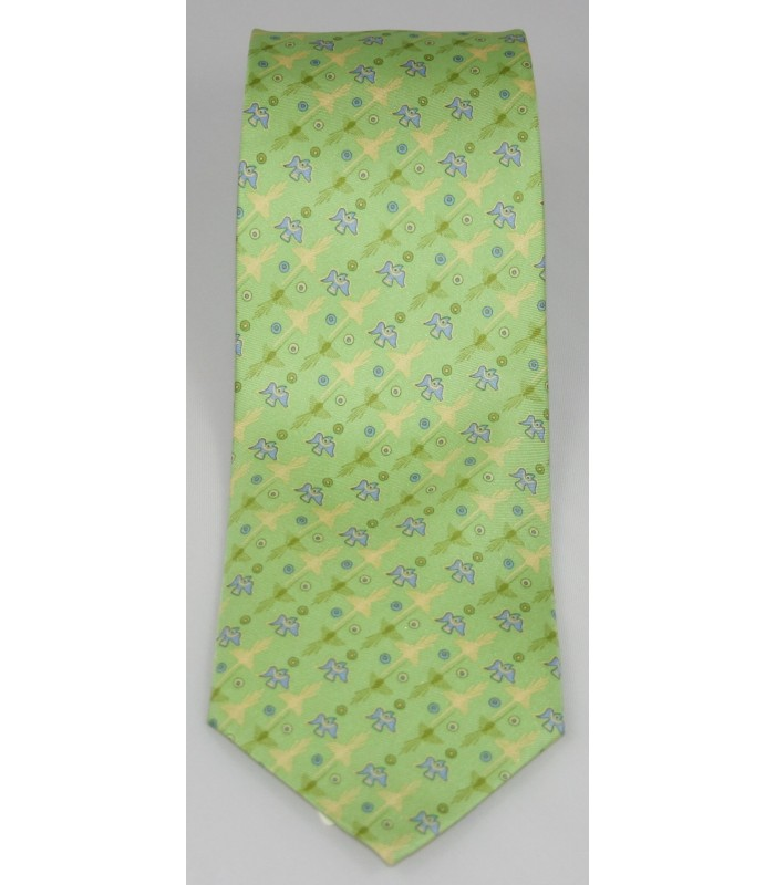 Nazca Pineda Covalin Silk Tie in Green