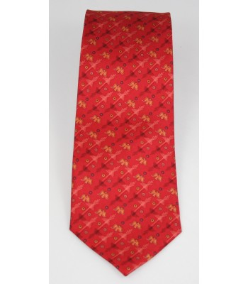 Nazca Pineda Covalin Silk Tie in Red