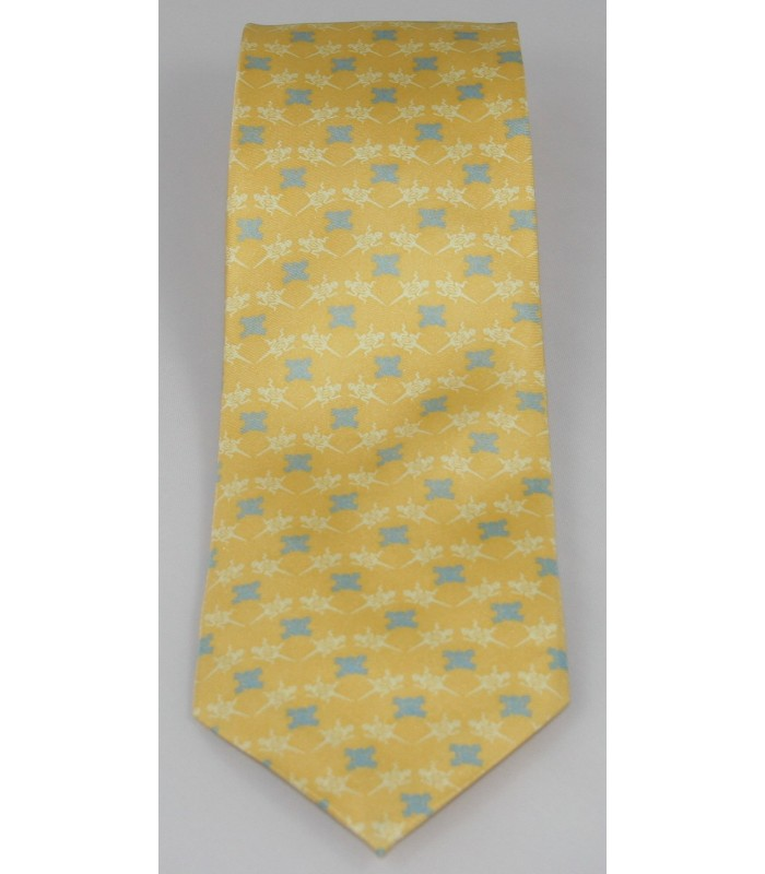 Pre-Hispanic Animals Pineda Covalin Silk Tie in Yellow