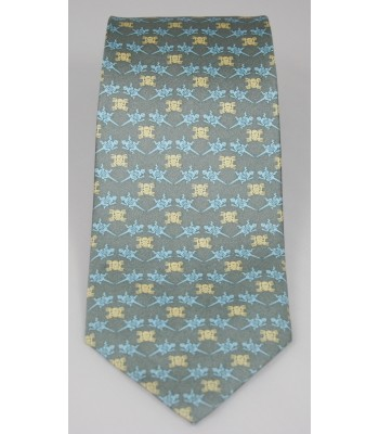 Pre-Hispanic Animals Pineda Covalin Silk Tie in Gray