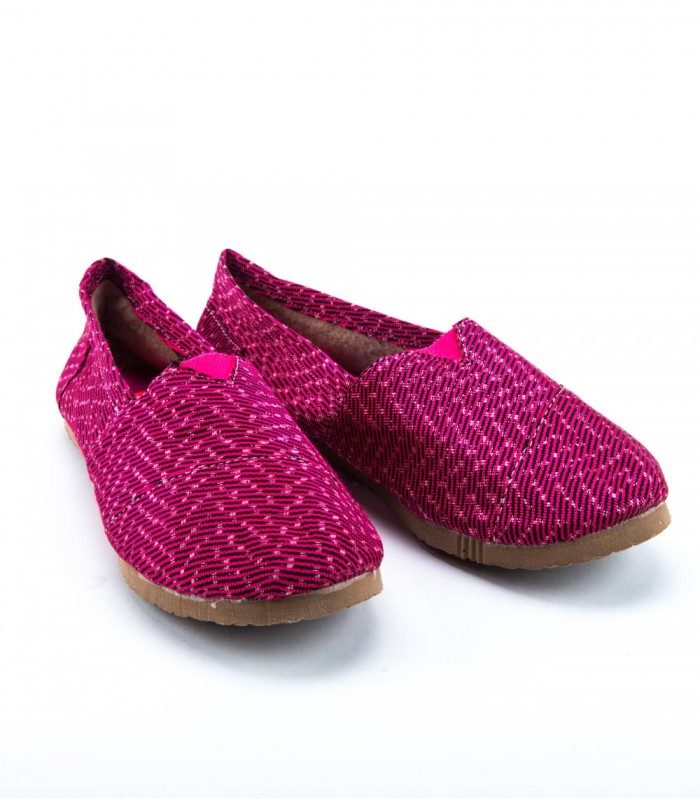 Pink Canvas Women Shoes