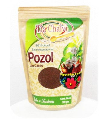 Pozol powder with cocoa to prepare beverages, 1.1 lb.