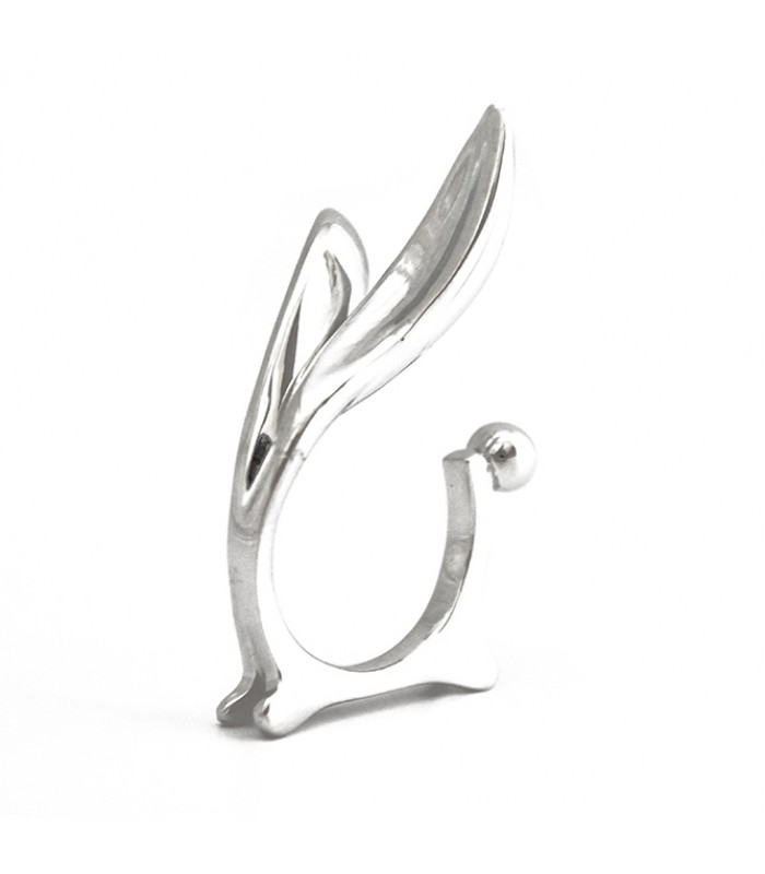 Rabbit Sterling Silver Ring