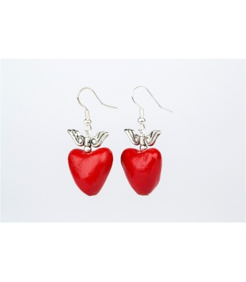 Large Heart with Wings Earrings