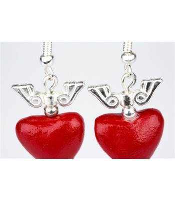 Small Heart with Wings Earrings