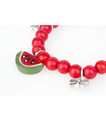 Watermelon and Butterflies Bracelet