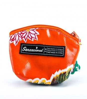 Sensacional Flowers Eunice Large Coin Purse in Orange