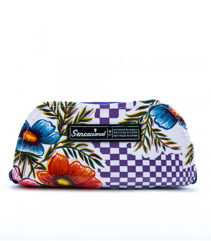 Sensacional Flowers Matu Large Hard Case for Eyeglasses in Purple