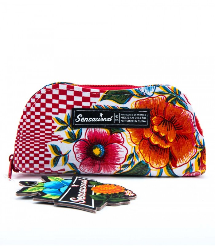 Sensacional Flowers Matu Large Hard Case for Eyeglasses in Red