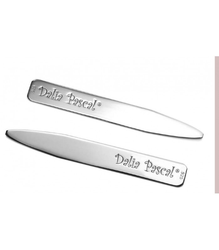 .925 Silver Personalized Collar Stays (10 pieces)