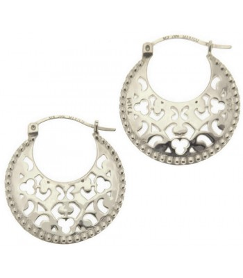 Tanya Moss Granada Sterling Silver Hoop Earrings