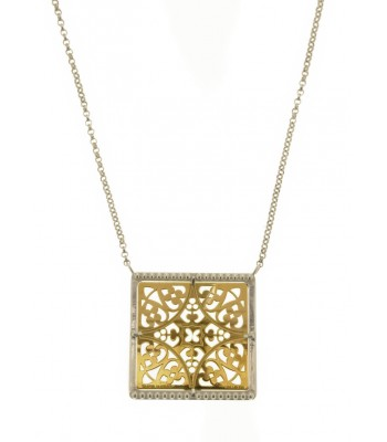 Tanya Moss Small Granada Gold and Sterling Silver Necklace