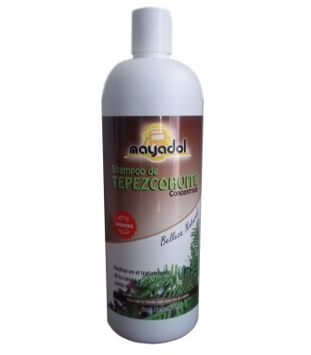 Tepezcohuite concentrated shampoo for deep cleansing.