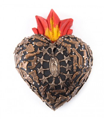 Handcrafted Wooden Milagritos Heart