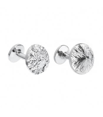 Izta Popo .925 Silver and Rhodium Plating Cufflinks