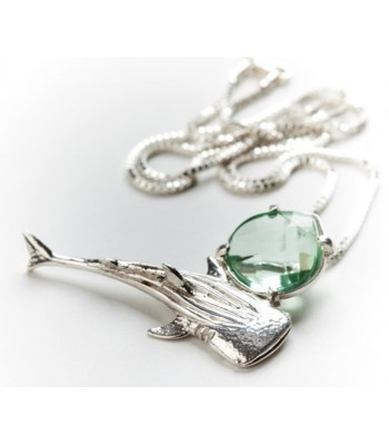 Sterling Silver Whale Pendant with Chain